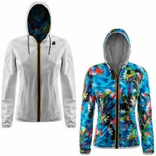 K-WAY reverse giacca DONNA leggera CAPPUCCIO LILY KL AIR DOUBLE KWAY PELLE 924ug