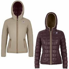 K-WAY Imbottita reverse giacca DONNA CAPPUCCIO KWAY LILY THERMO PLUS DOUBLE 973a