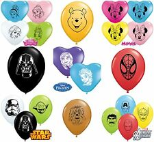 "Qualatex Disney 5"" 6"" Face Latex Balloons Birthday Party Heart Round Decoration"
