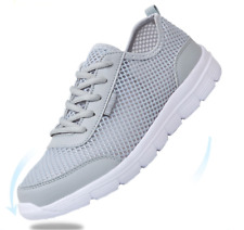 Light Weight mesh Breathable Men's Running Shoes Lace Up Quality Flat sneakers