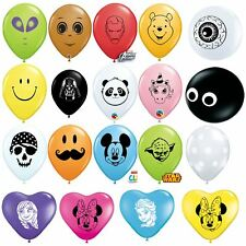 "Qualatex 5"" Printed Latex Balloon Theme Disney Character Birthday Party Round"