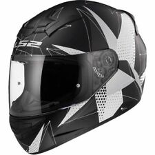 LS2 FF352 Brilliant Negro, Blanco Casco Integral Motocicleta ACCIDENTE