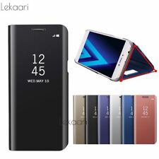 For iPhone X 8 7 6S 6 Mirror Smart View Flip Case For Samsung Galaxy S8 S9 Plus