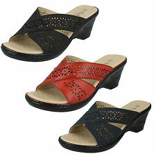 Eaze F3104 da Donna, Slip-On Tacco con Zeppa Open Toe Estivo Casual