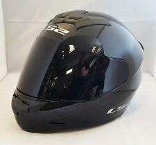 LS2 FF352 ROOKIE CASCO INTEGRAL Motocicleta ACCIDENTE NEGRO BRILLANTE CON OSCURO
