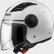 Casco Jet LS2 OF562 AIRFLOW gloss white long