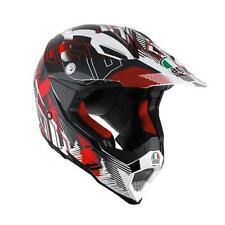 Casco Cross | Enduro AGV AX8 EVO MULTI NOFOOT white | red
