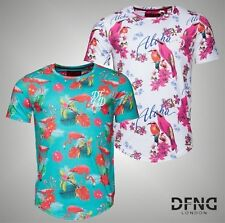 Mens DFND London Stylish All Over Print Short Sleeve T Shirt Top Size S-XXL