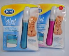 *SALE* Scholl Velvet Smooth Electronic Nail Care System Pink+Blue UK Easy to Use