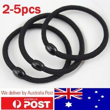 2-5pcs Elastic Rubber Black Hair Ties Hair Band Ropes Women's Ponytail Holder