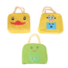 Cute Insulated Canvas Box Tote Bag Thermal Cooler Food Lunch Bags For Kids