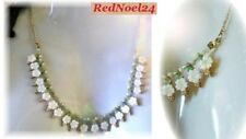 An Exuberant Vintage Mother of Pearl & Jade Single Ball Gold GO Chain Necklace