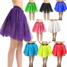 Womens 3 Layers TUTU Skirt Ladies Fancy Hen Night Disco Stag Party Flared Skirt