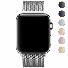 Apple Watch 1/2/3 Magnetic Replacement Loop Watch Band 42/38mm Metal iWatch