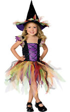 Girls Kids Childs Glitter Witch Fancy Dress Costume Outfit Rubies Halloween