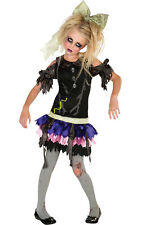 Girls Kids Childs Zombie Doll Fancy Dress Costume Outfit Rubies Halloween