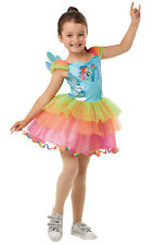 Girls Kids Childs Deluxe Rainbow Dash Fancy Dress Costume Outfit My Little Pony