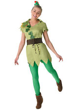 Ladies Woments Peter Pan Fancy Dress Costume Outfit Rubies Disney Fairy Tale