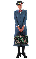 Womens Ladies Mary Poppins Fancy Dress Costume Outfit Rubies Disney Book Week