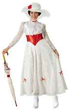 Womens Ladies Mary Poppins Fancy Dress Costume Outfit Rubies Official