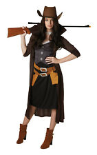 Womens Ladies Female Western Cowgirl Fancy Dress Costume Outfit Rubies