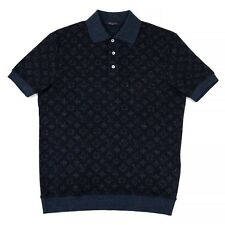 100% Authentic NEW Mens Louis Vuitton All Over Tweed Monogram Short Sleeve Polo