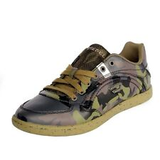 Men Casual Shoes Diesel Starch Leather Sneakers Military Green Y00674P1046H5419