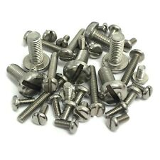 4mm 5mm 6mm A2 Stainless Steel Machine Screws - Slotted Pan Head Bolts DIN85
