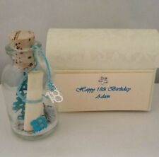 PERSONALISED 18TH BIRTHDAY KEY MESSAGE IN A BOTTLE 18 GIFT CARD KEEPSAKE POEM