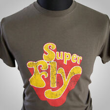 SUPERFLY Camiseta Retro CURTIS MAYFIELD RON O'NEAL Película Álbum cool tee 70's