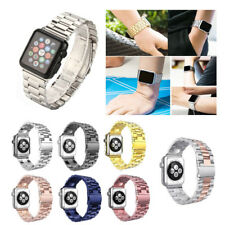 New Stainless Steel Wrist Bracelet Clasp For iWatch Band WristWatch 38mm/42mm