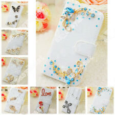 Jewelry Diamond Leather Case Flip Phone Cover Stand Wallet Skin For Cell Phone