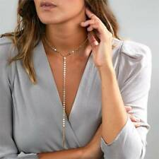 Ladies Popular Long Choker Chain Necklace With Cone Pendant