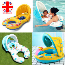 Inflatable Mother Baby Swim Ring Infant Kids Swimming Float Seat Ring Pool L4U