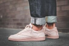 REEBOK CLUB C 85 RS SHELL PINK & GOLD TRAINERS IN ALL SIZES