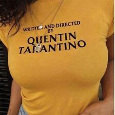 Written and directed by Quentin Tarantino Slogan Vintage 90's Women's Tee T shir