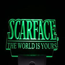 Scarface The World is Yours LED Neon Sign Day Night Sensor Light Bar Club Pub