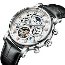 KINYUED JYD-J026 3D DIAL CASE AUTOMATIC MECHANICAL WATCH BUSINESS STYLE LEATHER