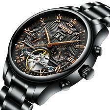 KINYUED JYD-J012 WORKING SUB-DIALS AUTOMATIC MECHANICAL WATCH STAINLESS STEEL