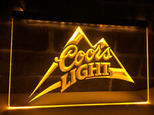 Coors Light Lite Beer LED Neon Light Sign Plate Flag Bar Club Pub Drink Gift