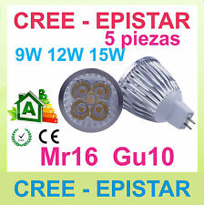 5x Regulable lampara LED mr16 gu10 9w 12w 15w CREE Epistar - excelente calidad!!