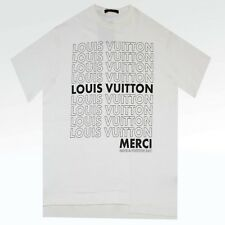 100% Authentic NEW Mens Louis Vuitton LV List Patchwork Merci Oversized Tshirt