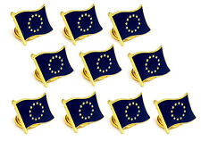 EU Set of High Quality Metal Enamel Pin Badges Lapel Brooch Collectable Gift