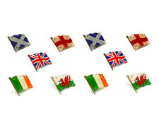 Various Country FLASHING High Quality Metal Enamel Pin Badges Lapel Brooch SET