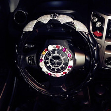 Bling Steering Wheel Cover White Bling Crystal Car Accessories Silver Rhinestone