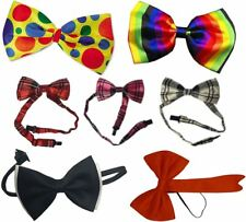 Mens Adjustable Plain Checked Weeding Bow Tie Adults Fancy Dress Party Accessory