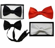 Men Adjustable Plain Bow Tie With Box Adults Weeding Fancy Dress Party Accessory