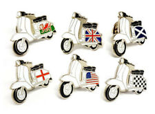 Vespa MOD Lambretta Scooter Flag Scooterists Metal Enamel Lapel Pin Badge Brooch