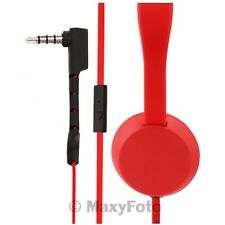 NOKIA CUFFIE ORIGINALI ON-EAR STEREO COLOUD WH-520 RED KNOCK JACK 3,5mm 0001A9A