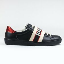 100% Authentic NEW Gucci Ace Band Logo Sneaker Black/Red